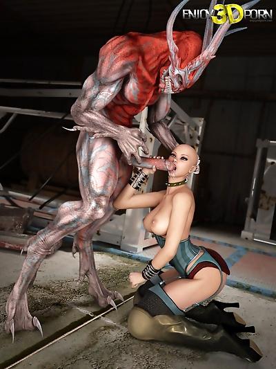 Vicious creature fucks babe in a steampunk universe - part 11